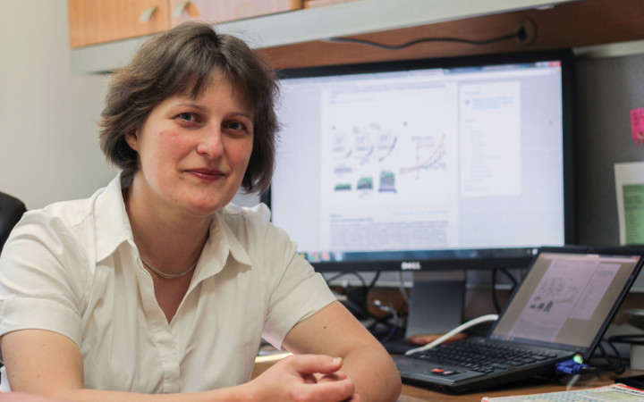 eLife's fast turnaround from submission to publication gave assistant professor Polina Lishko an edge over her competitors. credit: Cindy Wang