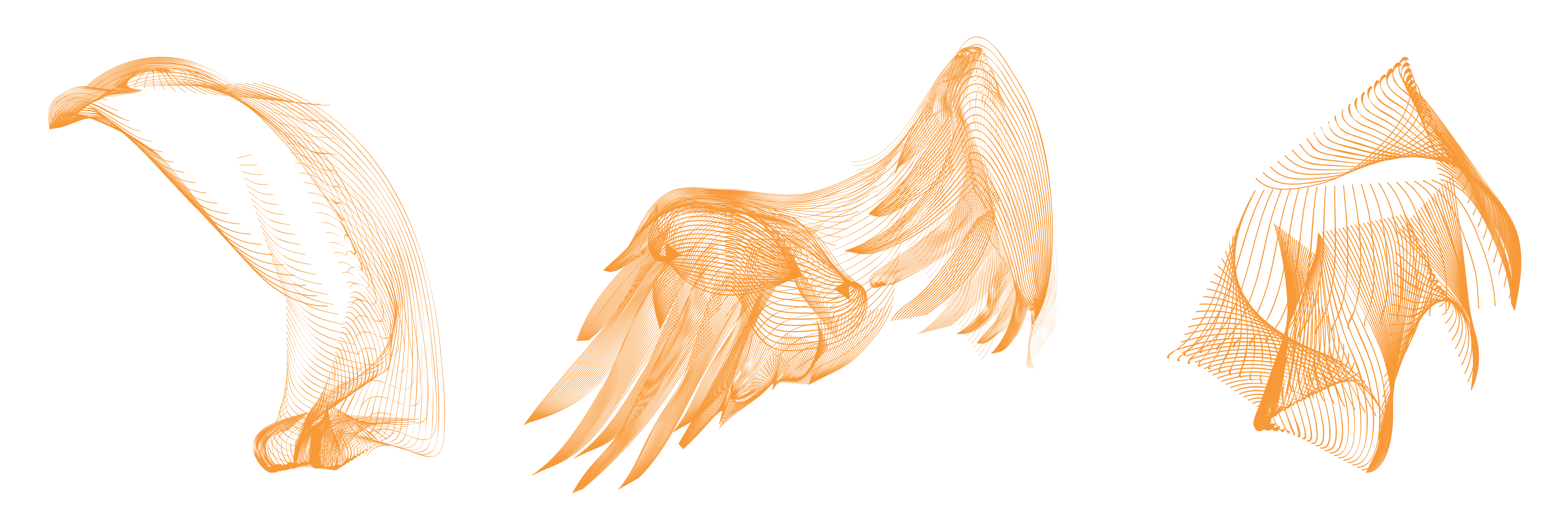 The bird was constructed from three main components; note that each feather on the wings was individually created.