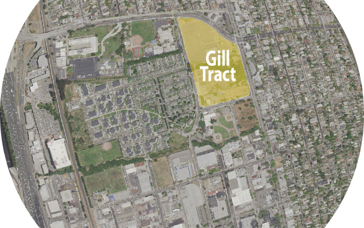 Aerial view of Gill Tract and surroundings, Albany, CA. (credit: USDA-APFO National Agricultural Inventory Project)