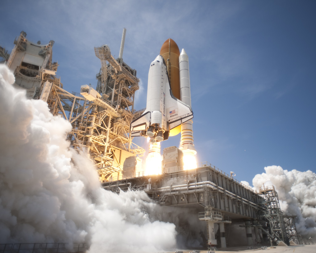 Atlantis lifts off from Launch Pad 39A at NASA's Kennedy Space Center in Florida on the STS-132 mission to the International Space Station at 2:20 pm EDT on May 14, 2010.