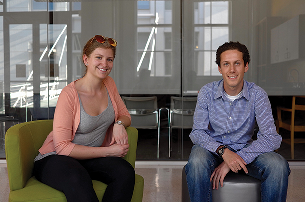 """Simla Bouma and Sam Kohn, organizers of Respect is Part of Research."" Credit: Michael Wan."